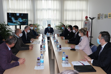 Meeting of Rector Gajanin and Minister Udovičić: Gaining of New Knowledge and Qualifications for Students