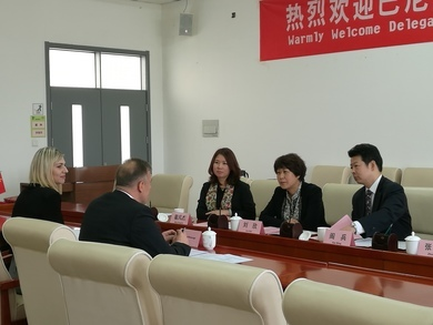 Rector Milan Mataruga and Vice-Rector Biljana Antunovic at the official visit in China