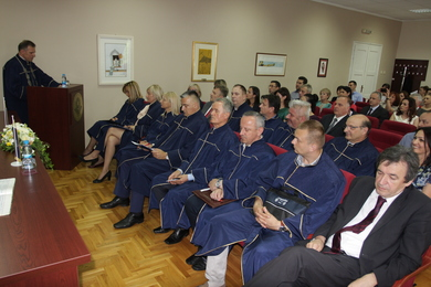 PhD degree holders hooding ceremony
