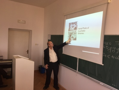 Israeli professor Gideon Greif, chief historian of the Shem Olam Holocaust Institute for Education, Documentation and Research gave a lecture at University of Banja Luka, Faculty of Philosophy