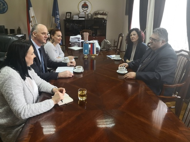 Meeting between the Rector and the President of the Syndicate for Education, Science and Culture of the Republic of Srpska