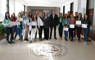 Certificates Delivered to the Faculty of Law Students